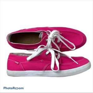 LkNw REEF Pink canvas Deck Boat Shoes Sneakers 9